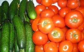 Заготовка огурцов и помидоров