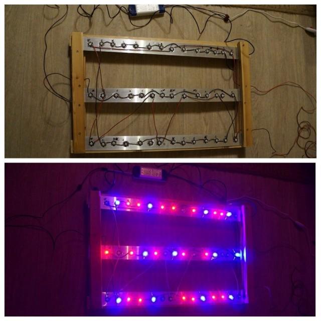 Наша самодельная лампа для подсветки растений