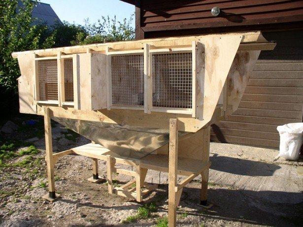 На фото клетки для кроликов Золотухина