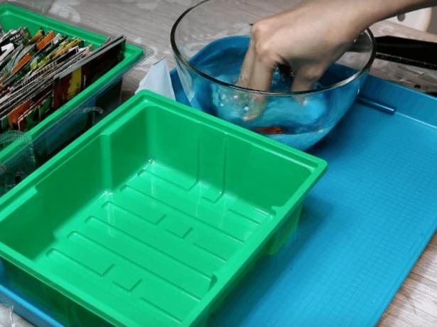 Губка для проращивания семян в воде