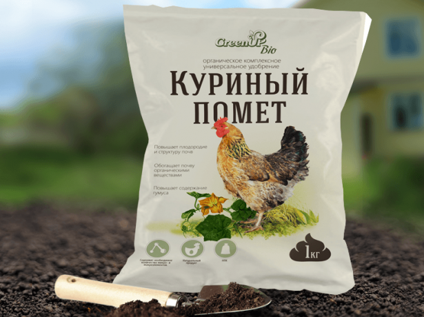 Упаковка куриного помёта