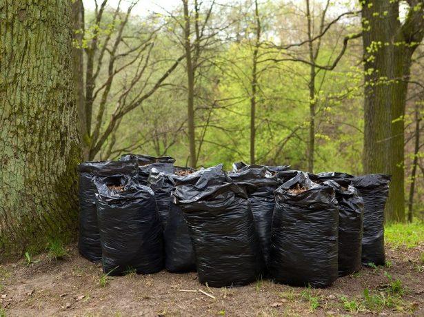 Хранение мешков, заполненных сырьем