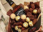 «Букет» с бутылкой алкоголя